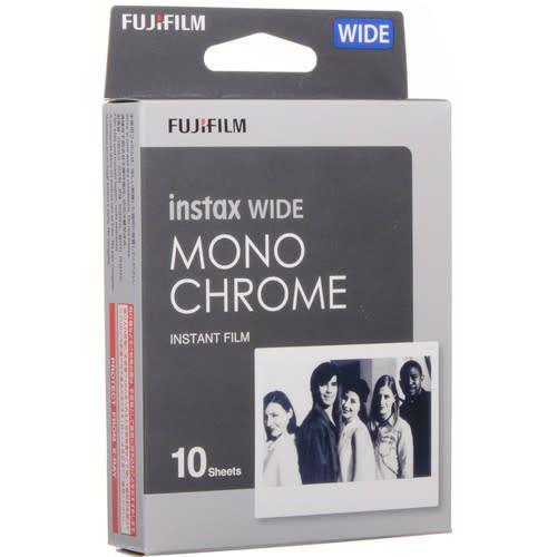 Fujifilm Fujifilm instax WIDE Monochrome Film Pack, 10 Sheets