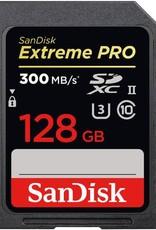 Sandisk SanDisk ExtremePRO 128GB UHS-II Class 10 U3 SDXC Memory Card, Up to 300MB/s Read and Up to 260MB/s Write Speed