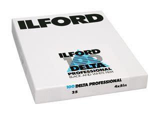 "Ilford Ilford Delta 100 ASA 4x5"" Sheet Film"