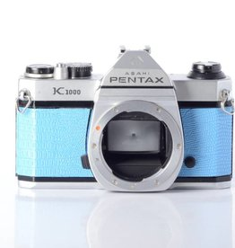 Pentax Pentax K1000 35mm Camera Body * Blue & Chrome *