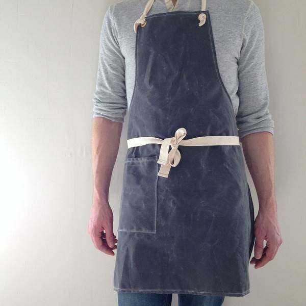 Potager Wax Canvas Apron