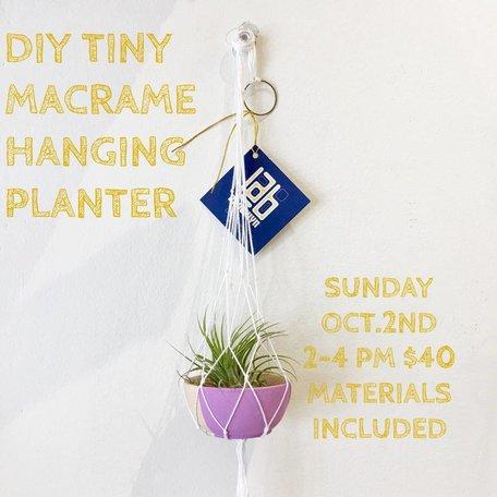 DIY Tiny Macrame Handing Planter - October 2nd