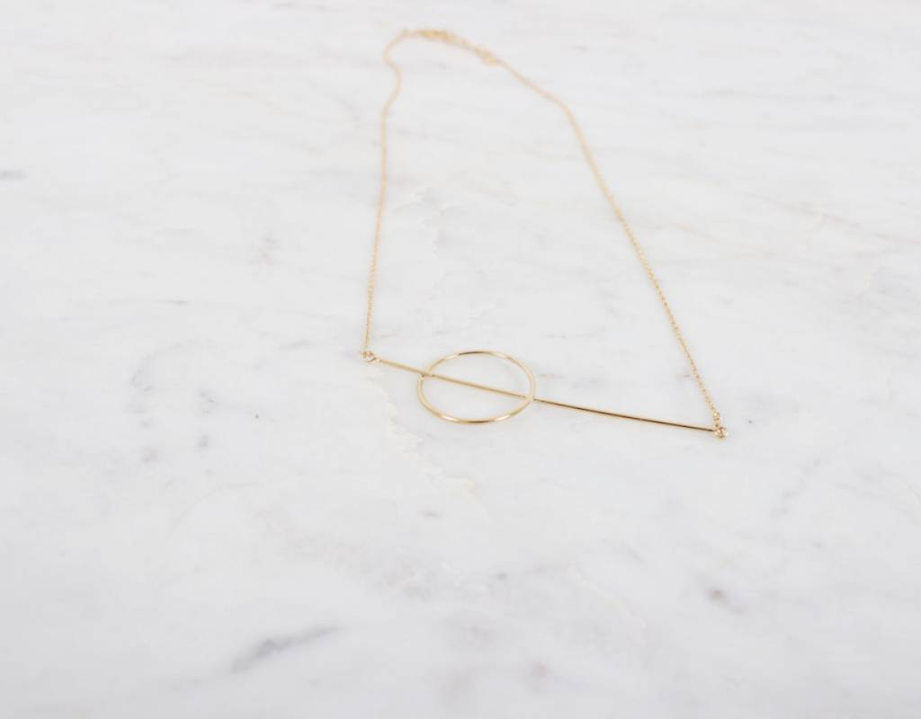 Straight & Round Necklace