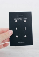 Trio Shape Earring Set