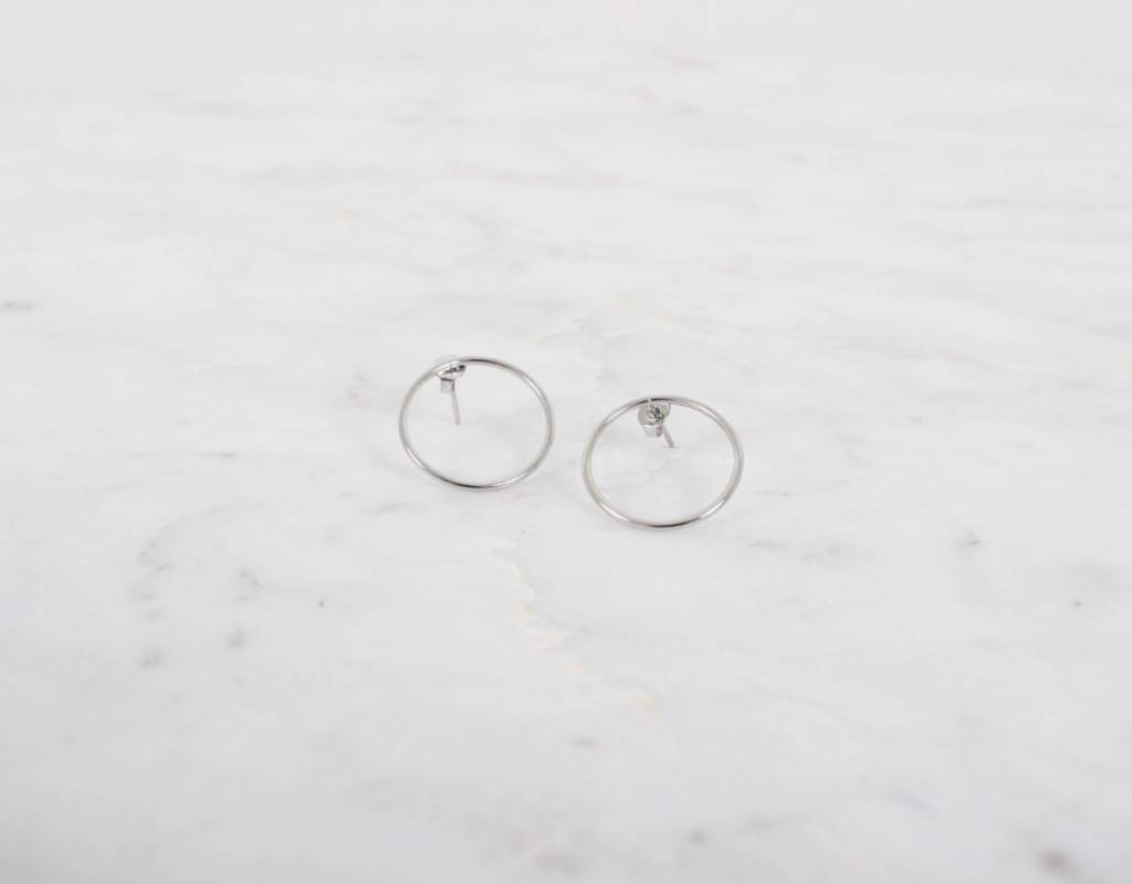 Around Circle Earrings