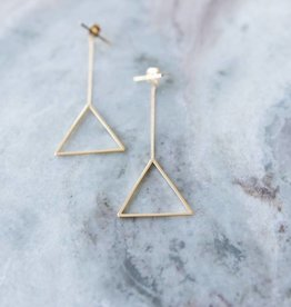 Tri Bar Earring