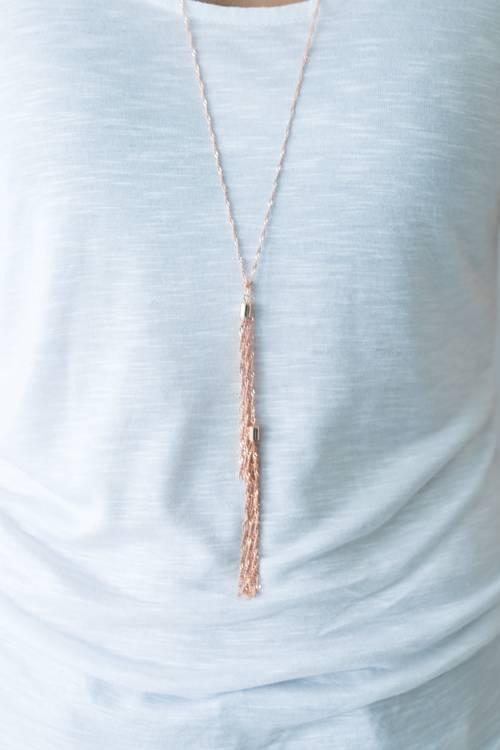 Braid Tassel Necklace
