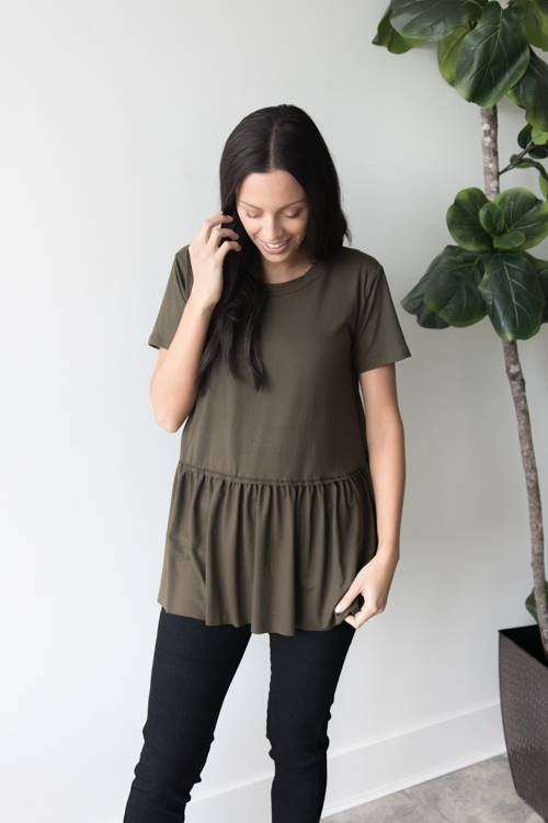 Brandy Peplum Top