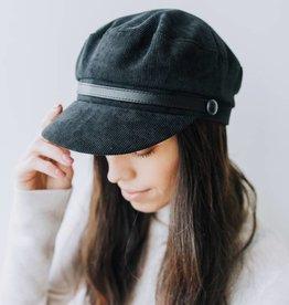 Cord Newsboy Hat