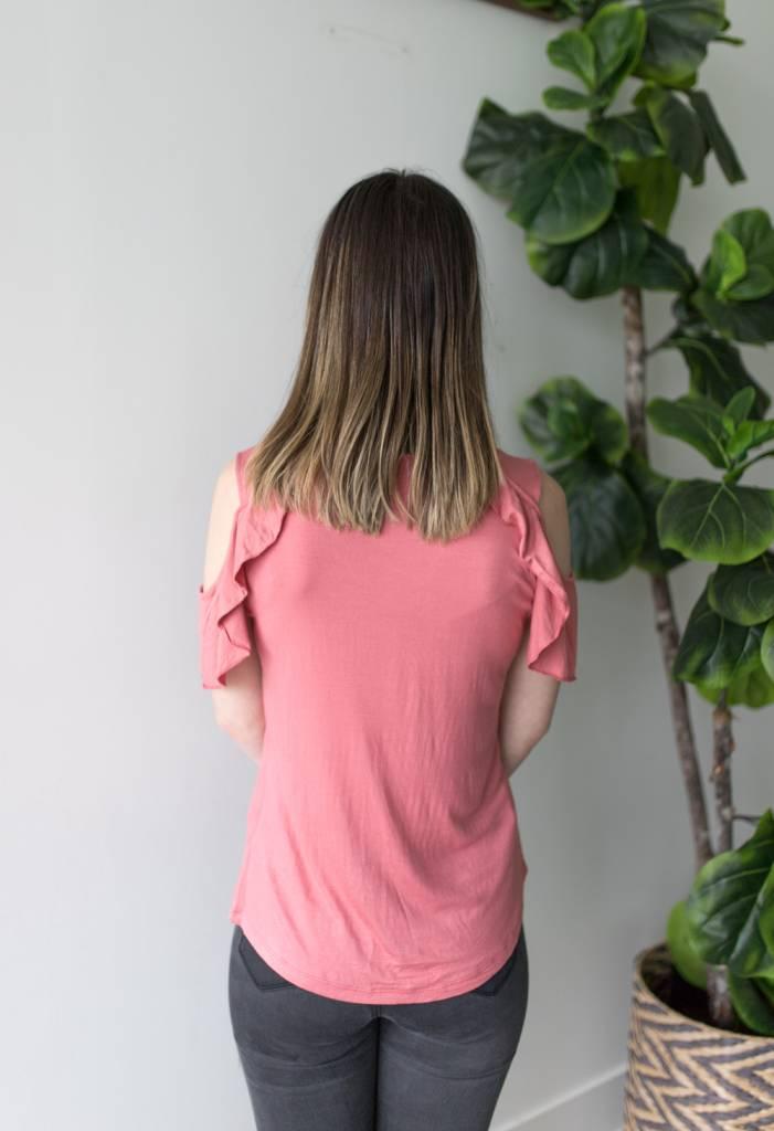 Rusty V-neck Top