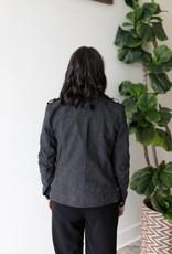 World Short Faux Leather Jacket