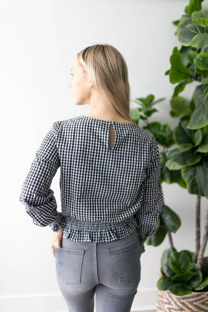 Maia L/S Smock Top Gingham