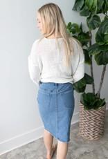 Aroona HW Slim Pencil Knee Skirt