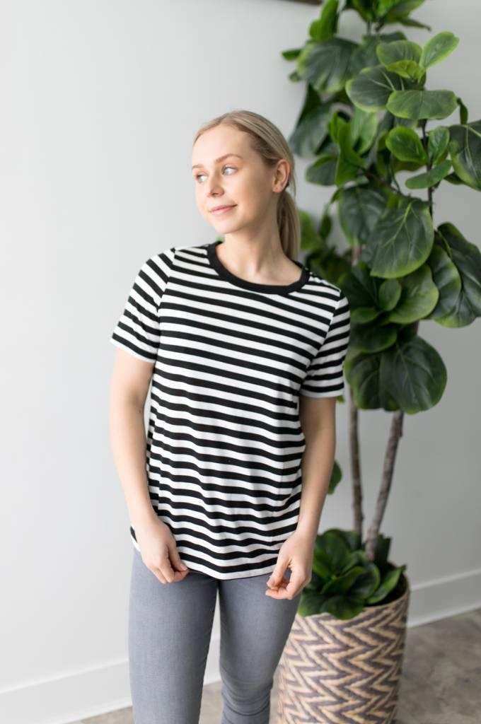 Nia S/S Striped Tee
