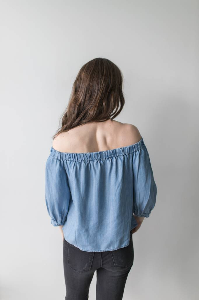 Janice Off Shoulder Denim Top