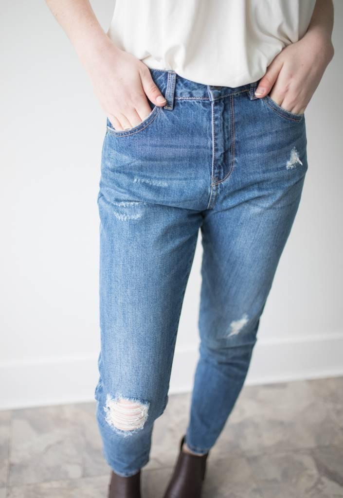 Nineteen HR Loose Destroy Ankle Jeans Length 30