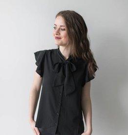 Elena S/S Striped Bow Shirt