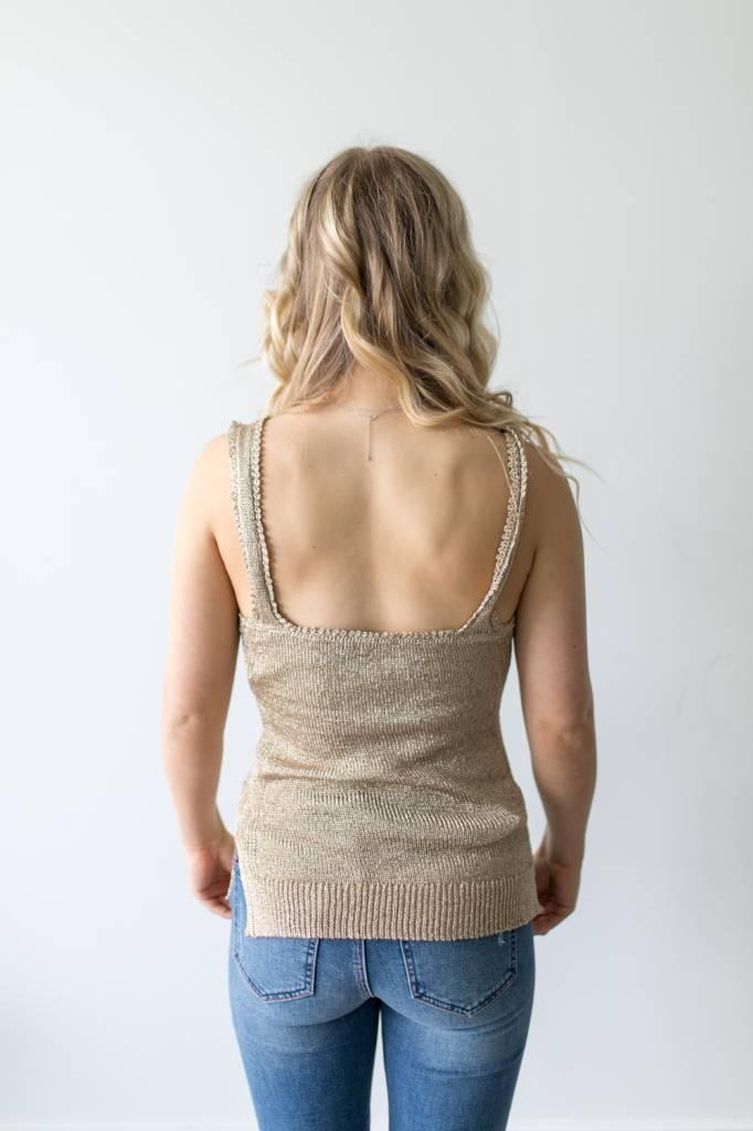 Sophia Metallic Sweater
