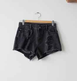 Pacy HW Raw Edge Denim Short