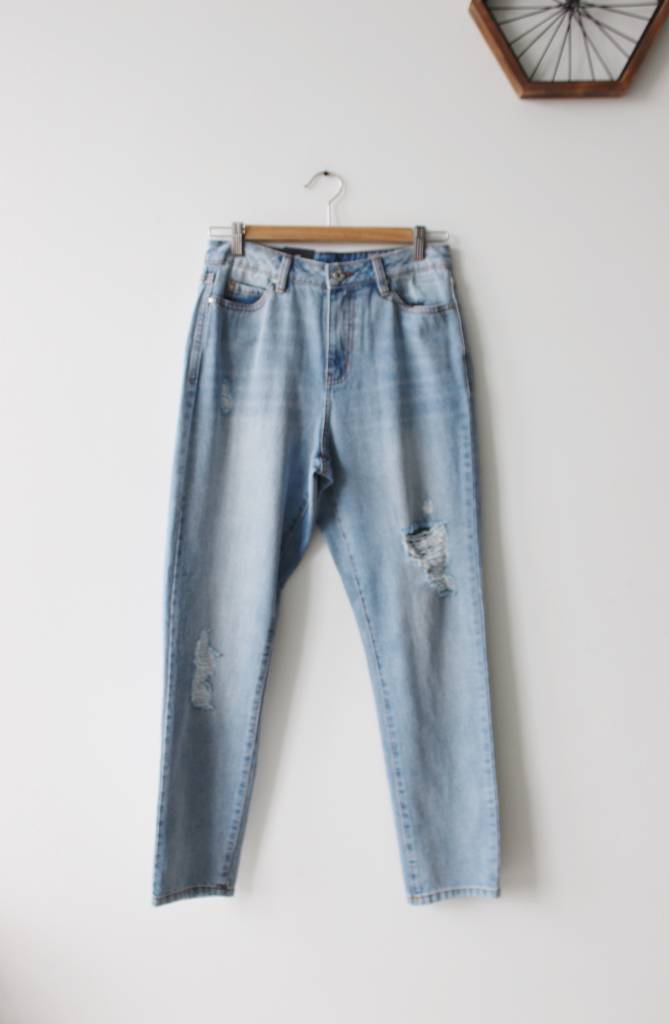 Anna MR Straight Ankle Jeans