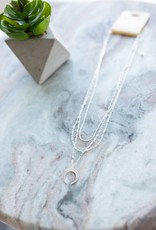 Triple Layer Crescent Necklace