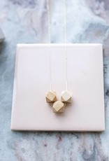 Topaz Metric Cube Tri Necklace