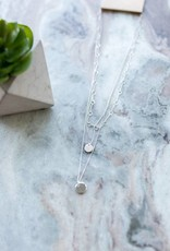 Topaz Double Half Moon Necklace