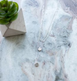 Topaz Double Half Moon Necklace