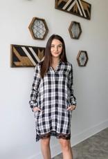 Lace Full Shirt Dress