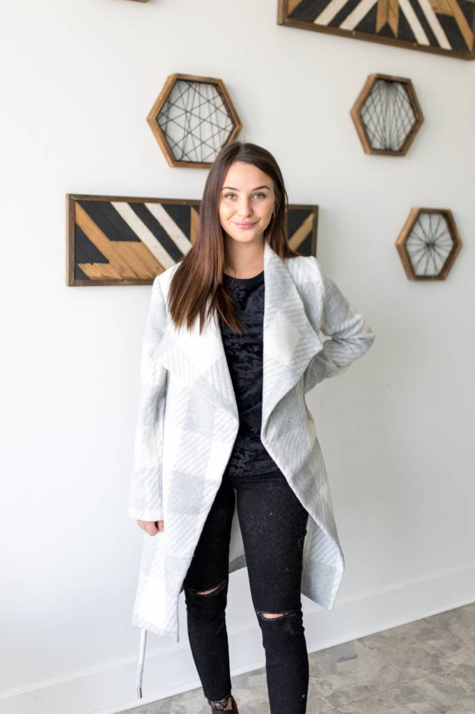 Tartan Shawl Coat