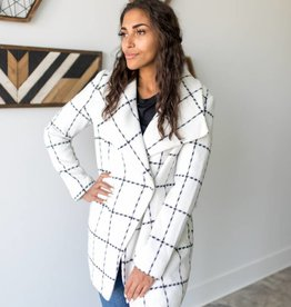 Frosted Plaid Coat