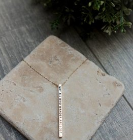Not All That Wander Bar Necklace