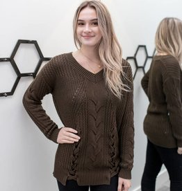 Jade Cable Knit Sweater