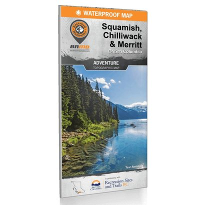 Backroad Mapbooks Squamish, Chilliwack, & Merritt BC Waterproof Map