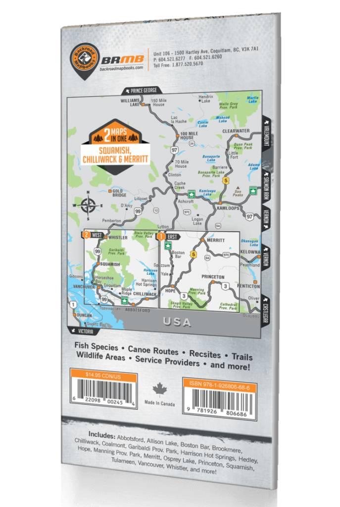 Squamish chilliwack merritt bc map shop climb on squamish backroad mapbooks squamish chilliwack merritt bc waterproof map backroad gumiabroncs Gallery