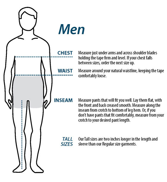 Men's Measuring Guide