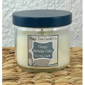 Pebble Tree Candle Co. Happy Birthday Cake Soy Wax Candle - 6oz Round