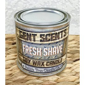 Gent Scents Soy Wax Candles Fresh Shave - Gent Scents Soy Wax Candle