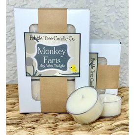 Pebble Tree Candle Co. Monkey Farts - Soy Wax Tealight - Pack of 6