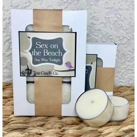 Pebble Tree Candle Co. Sex on the Beach - Soy Wax Tealight - Pack of 6