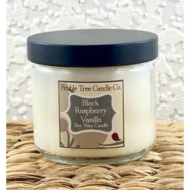 Pebble Tree Candle Co. Black Raspberry Vanilla - Soy Wax Candle - 6oz Round