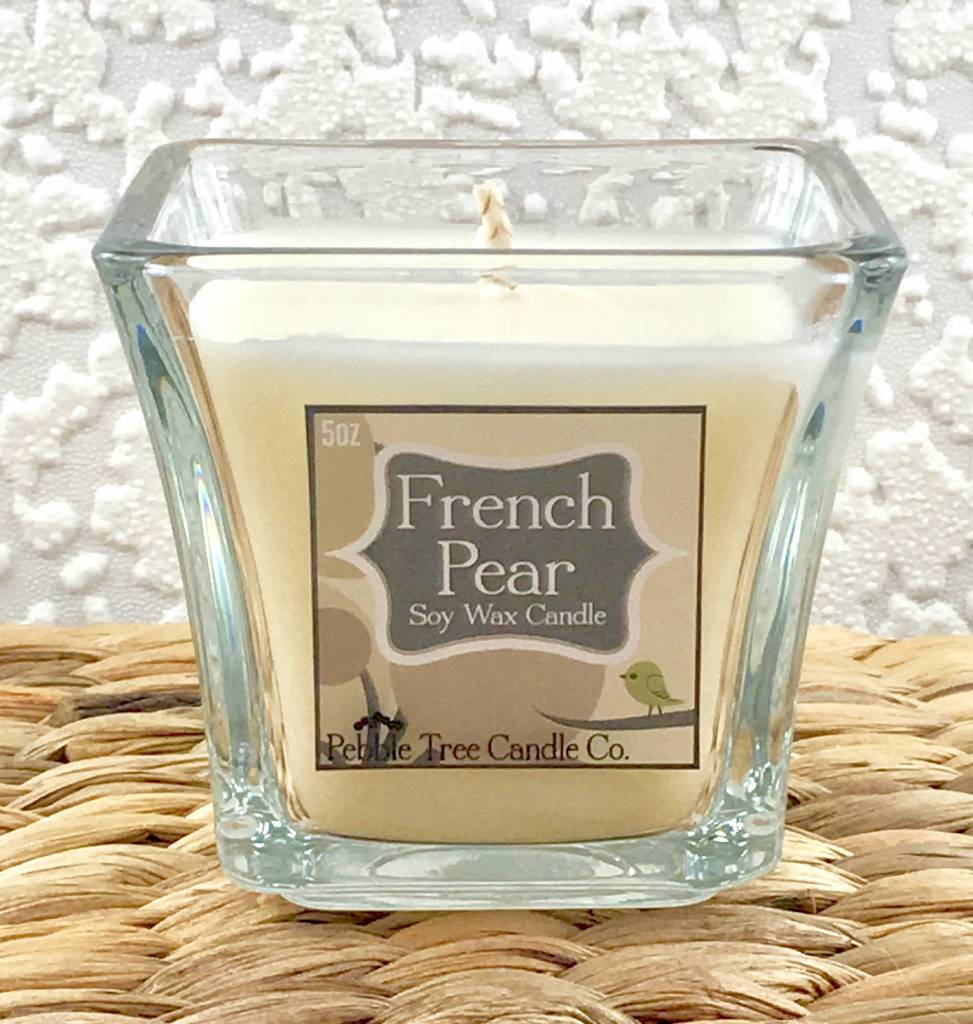 Pebble Tree Candle Co. French Pear - Soy Wax Candle - 5oz Flare