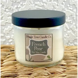 Pebble Tree Candle Co. French Pear - Soy Wax Candle - 6oz Round