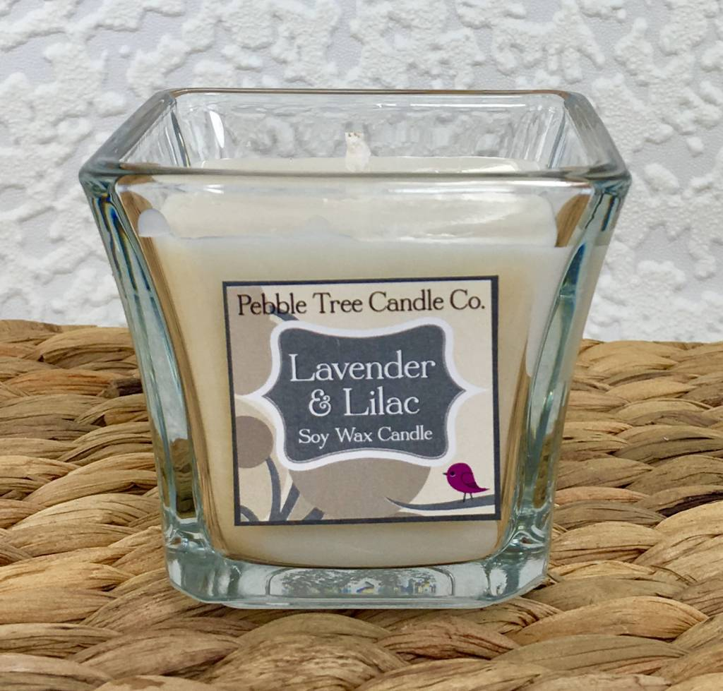 Pebble Tree Candle Co. Lavender & Lilac - Soy Wax Candle - 5oz Flare
