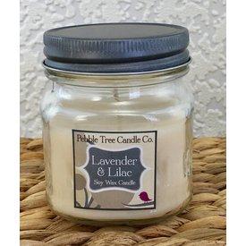 Pebble Tree Candle Co. Lavender & Lilac Soy Wax Candle - 8oz Mason