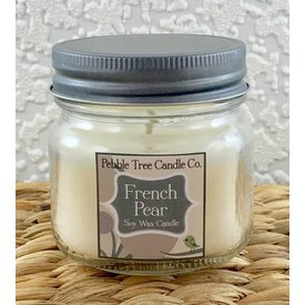 Pebble Tree Candle Co. French Pear - Soy Wax Candle - 6oz Mason