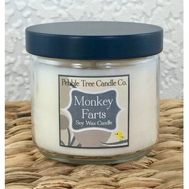 Pebble Tree Candle Co. Monkey Farts -Soy Wax Candle - 6oz Round