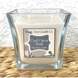 Pebble Tree Candle Co. Cool Citrus Basil - Soy Wax Candle - 15oz Flare