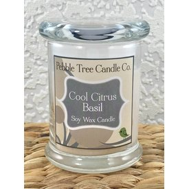 Pebble Tree Candle Co. Cool Citrus Basil - Soy Wax Candle - 8oz Status