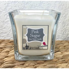 Pebble Tree Candle Co. PInk Sugar - Soy Wax Candle - 15oz Flare